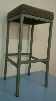 Vintage Machinists Factory Chair / Stool - Industrial stools, Solid Metal stool