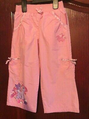 A Great Pair, My Little Pony Lined Pink Trousers - Size 3-4 yrs 104cms - In VGC