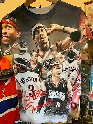 Allen Iverson Philadelphia Sixers 76Ers Awesome Graphics T Shirt.