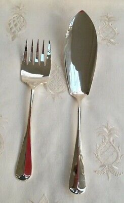 Silver Plated 'Rattail' Fish / Meat Serving Set - Butler of Sheffield