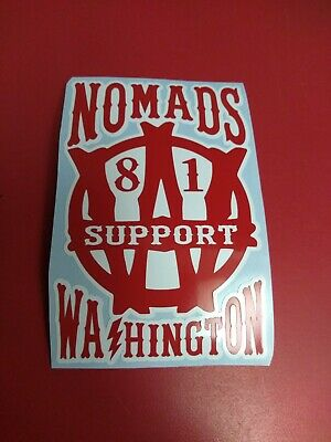 Hells Angels Nomads Washington  Collectible American  Support 81 Sticker