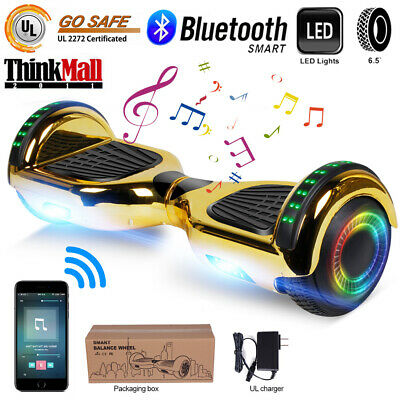 """6.5"""" Hoverboard Bluetooth Electric Self Balance Scooter with Bag Chrismas Gold"""