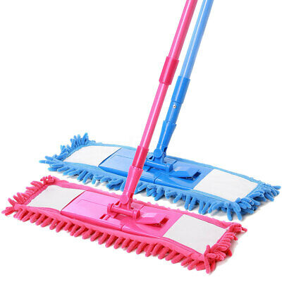 Extendable Microfibre Floor Mop Cleaner Sweeper iron pole Laminate Tile Wet   k