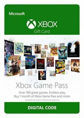 1 Month Xbox Game Pass TRIAL Membership Subscription Xbox One