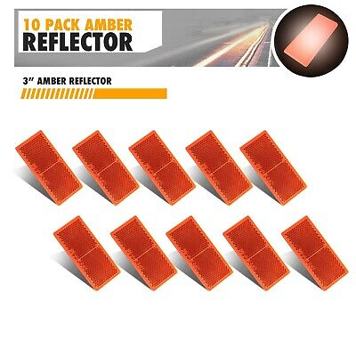 2 X AMBER REFLECTOR SELF ADHESIVE STICK ON REAR 102 x 50mm REAR REFLECTORS TP23