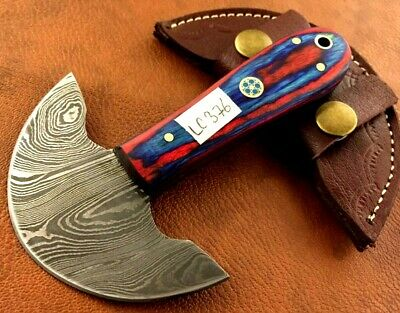Handmade Damascus Steel Leather Skiver-Leather Cutter-Edge Skiving Tool-LC376