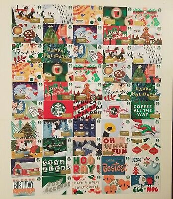 Complete set of 50 Standard 2019 Christmas Holiday Starbucks gift cards Unswiped