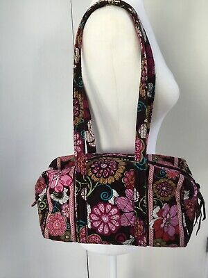 Vera Bradley Caroline Mod floral Pink Satchel Purse Lightweight Fabric Retired
