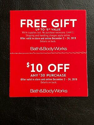 Bath And Body Works Coupon Discount And Gift
