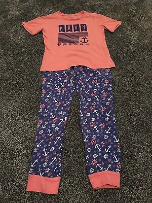 Young Dimension Girls Nautical Design Pyjamas Age 7-8 Years
