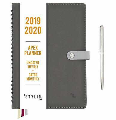Apex Planner 2020. Undated Weekly, Dated Monthly Calendar. Daily Personal Agenda