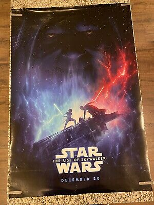 """STAR WARS THE RISE OF SKYWALKER 2019 Original DS 2 Sided 27x40"""" US Movie Poster"""