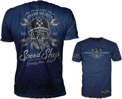 Lethal Threat Mens Speed Shop Tee Short Sleeve Shirt Blue Md