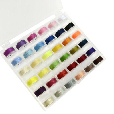 36 50 Bobbins Sewing Thread Set Universal Assorted Color Box Packed for Brother