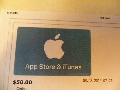 50 Apple App store and iTunes gift card/ certificate FREE USPS PRIORITY MAIL