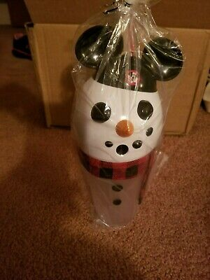 Sealed Holiday Disney Parks 2019 Snowman Light Up Sipper NEW
