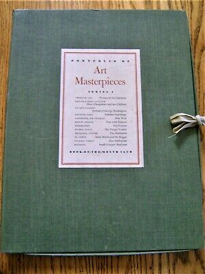 Portfolio of Art Masterpieces  Series 1 Book of the Month Club Lithographs  L@@K
