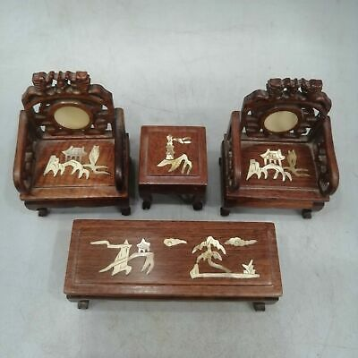 Chinese old wood pure hand-carved coffee table decoration love good collection
