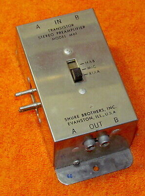 Shure Stereo Vintage Preamp M61 Phono/Mic/Tape
