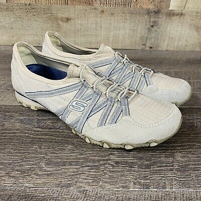 Details zu Women's Shoes Skechers SN 21139 Gray Suede Leather Slip On, size 9M