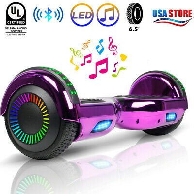 """6.5"""" Electric Bluetooth Hoverboard LED Flash Self Balancing Scooter No Bag UL"""
