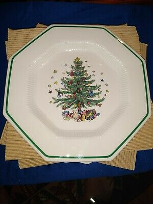 "Set of 5 Nikko Christmastime Dinner Plates, 10 3/4"" perfect"