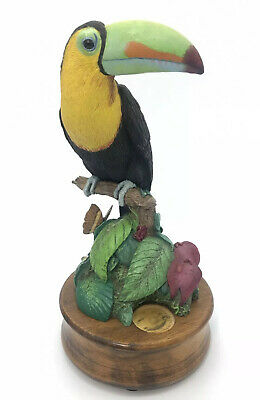 World Wildlife Fund 1992 Willitts Designs Keel Billed Toucan Figure Music W/ Box