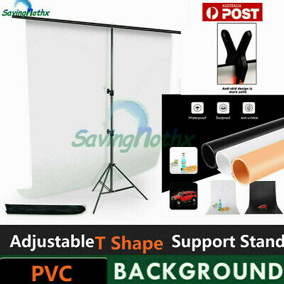 Photography Lighting PVC Background/ Photo Studio T Backdrop Stand/ Screen Clamp