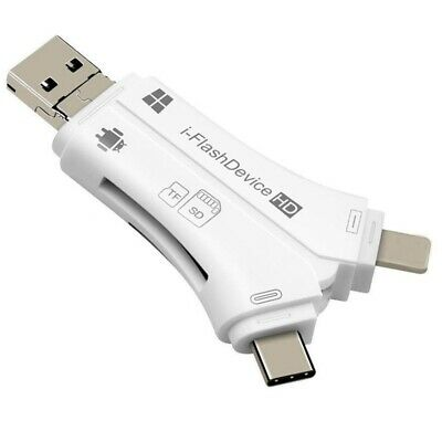 4 In 1 I Flash Drive Usb Micro Sd&Tf Card Reader Adapter For Iphone 5 6 7 T5I9