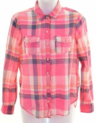 ABERCROMBIE & FITCH Girls Shirt 13-14 Years XL Multicoloured Check Cotton  BA05