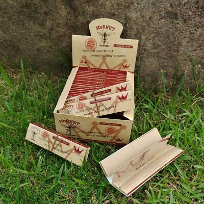 HORNET 24x Classic King Size Brown Unrefined Rolling Papers With Paper Tips