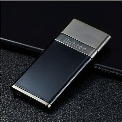 Cigarette Lighter Electric Rechargeable Flameless Metal Windproof USB Charging