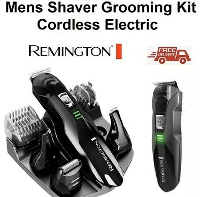 Remington Mens Shaver Beard Clipper Trimmer Body Grooming Kit Cordless Electric