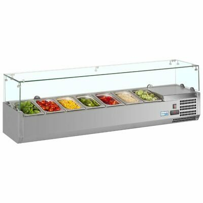 Commercial Fridge Pizza Salad Display Chiller Interlevin VRX1600/330