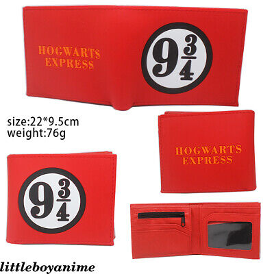 Harry Potter PVC Wallet Bifold Short Purse Boys Girls Card Pack Holder Gifts