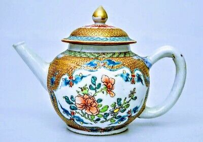 Chinese Export 18th Century Yongzheng Famille Rose Tea Pot
