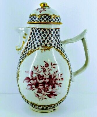 Chinese Export 18th Century Yongzheng Famille Rose Coffee Pot for French Market