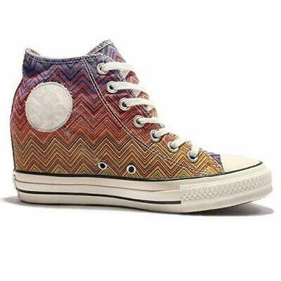 Converse Women's Chuck Taylor All Star Lux WEDGE HEEL Periwinkle/Citrus Trainers