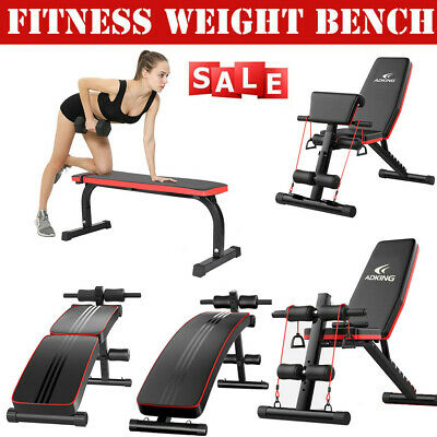 Home Gym Adjustable Weight Bench Barbell Lifting Workout Fitness Incline Decline