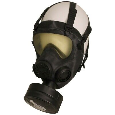 Polish Army / military Surplus MP5 Gas Mask respirator  Filter and carrying case
