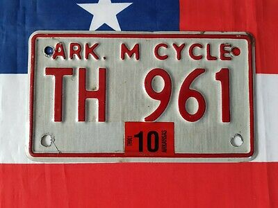 Plaque d'immatriculation MOTO Arkansas TH 961 US USA license plate