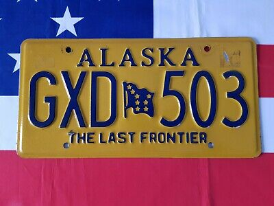 Plaque d'immatriculation GXD 503 US USA license plate