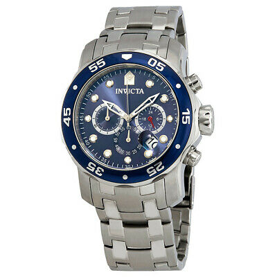 Invicta Pro Diver Chronograph Blue Dial Stainless Steel Silver Men's Watch 21921