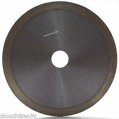 """8"""" inch Sintered Diamond Blade Saw Wet Cutting Glass Continuous Rim Arbor 1"""""""