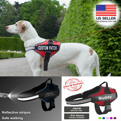FOR DOG Harness Service Adjustable Patches Reflective XSmall Large Medium XS-XXL