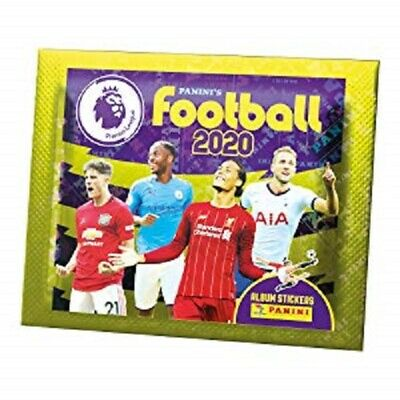 10x Panini's Football 2020 –  Premier League Sticker Collection Packs (10 Packs)