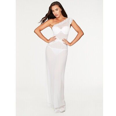 Fredericks Of Hollywood Leia Scalloped Lace Sexy Gown Megan Fox White Lingerie