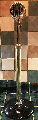 Rare And Original Vintage ' Tannoy ' Microphone Adjustable Brass And Copper