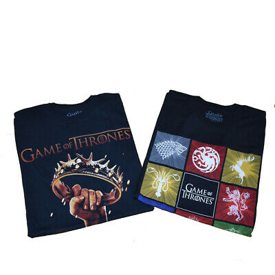 Game of Thrones T-Shirt Set w/Sigil of all the houses in size SMALL - NWT