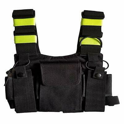 For Two-Way Walkie Talkie Chest Harness Green Front Pack Pouch Holster Vest Rig
